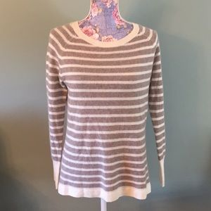 Halogen 100% Cashmere Small Sweater Tan Ivory Soft